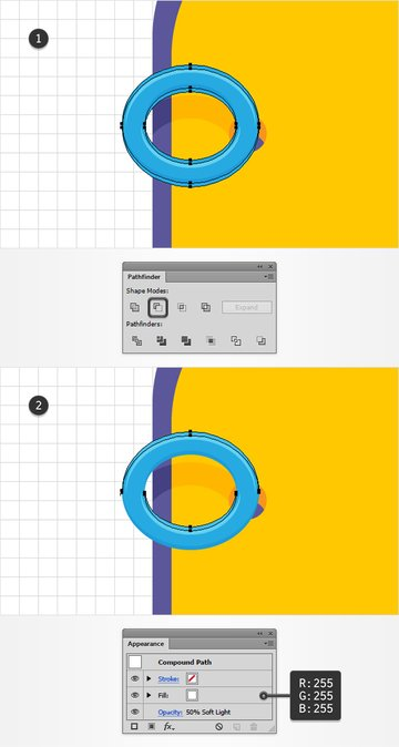 blue circle shading