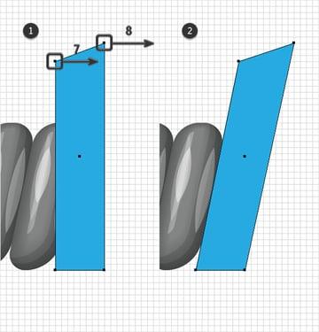 adjust blue shape