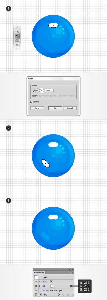 rotate white shape