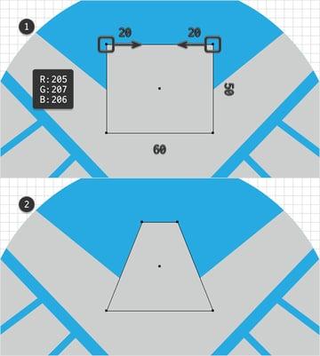 grey trapezoid