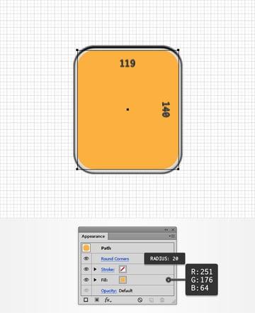 orange rounded rectangle