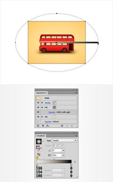 background radial gradient