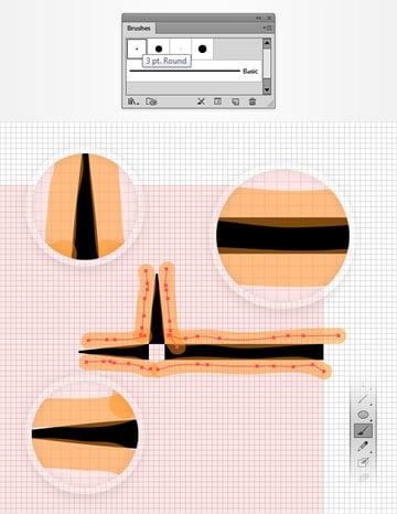 calligraphic brush