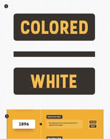 colored white