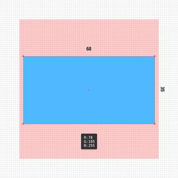 blue rectangle