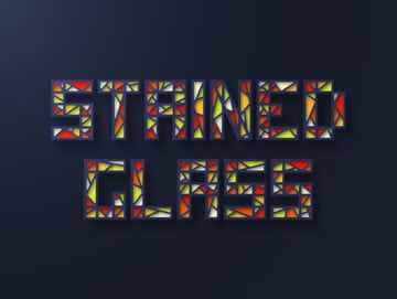 stained glass text effect
