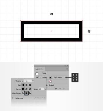 text design rectangle