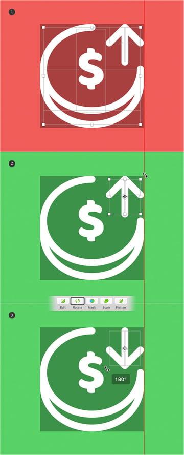 duplicate icon rotate arrow