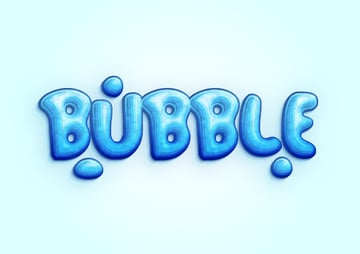 bubble text effects