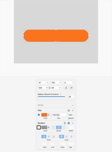 sketch UI design button