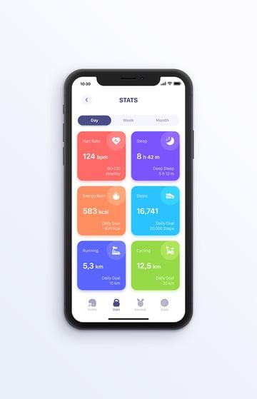 fitness app design template