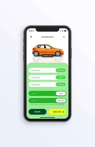 tesla iOS app