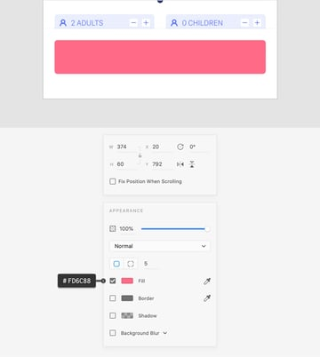 pink rounded rectangle