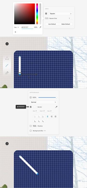 pen tool square grid