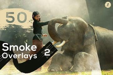 50 Photoshop  Smoke Overlay Pack