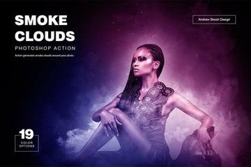 Cloud Smoke Photoshop Action