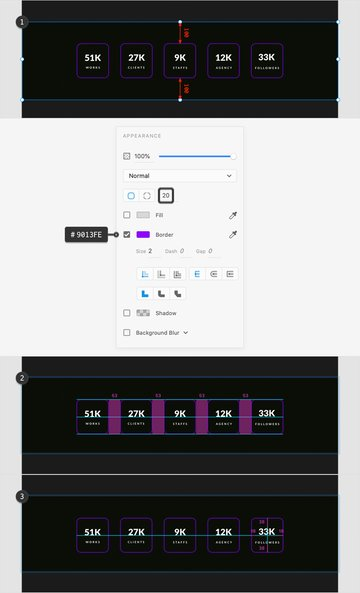 resume website template stats page