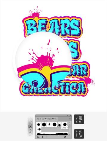 graffiti spray brush illustrator