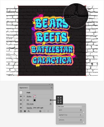 graffiti text effect texture
