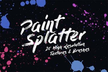 paint splatter illustrator brush