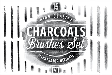 Charcoals Illustrator Brushes