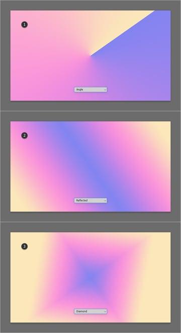 angle reflected diamond gradient