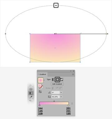 pastel radial gradient