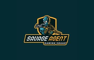 Savage Agent Gaming Emblem Logo Design