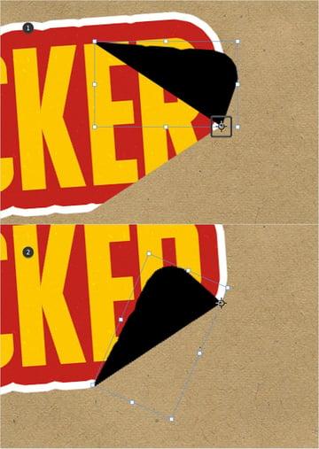 peeling sticker rotate