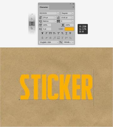 sticker text
