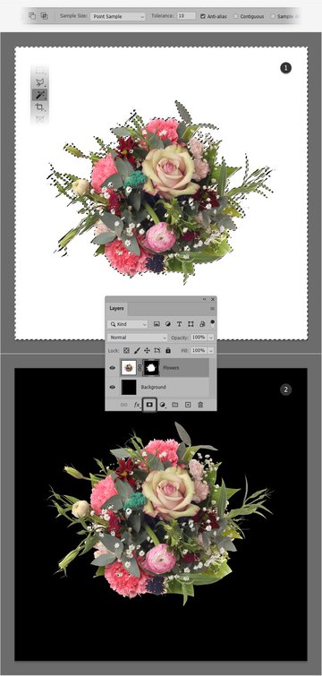 mask flower layer