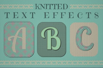 knitted text effect