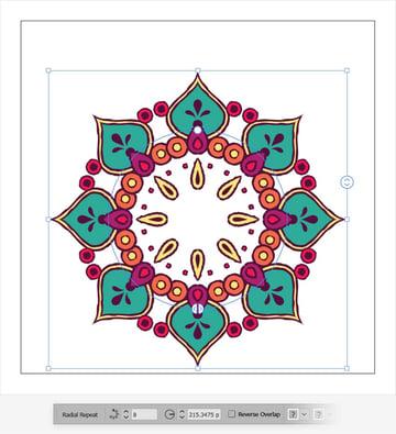 repeat radial illustrator