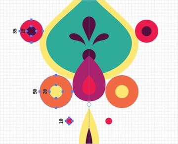mirror circles illustrator