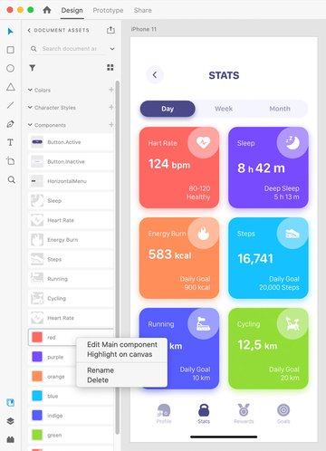 AdobeXD components