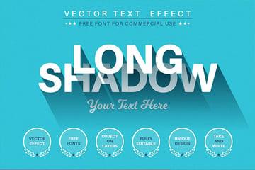 retro long shadow effect