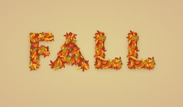 fall text effect