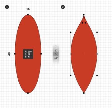 red leaf design