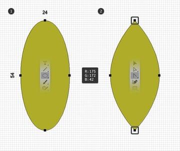 leaf design ellipse
