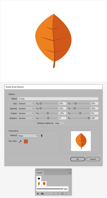 leaf brush orange