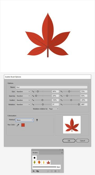 red leaf design red