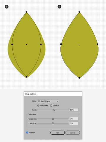 leaf design warp effect