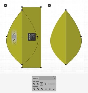 leaf design half