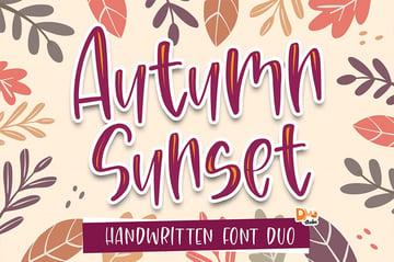 fall font alphabet