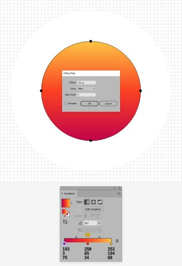 circle linear gradient
