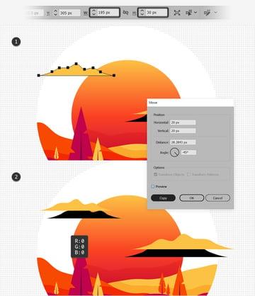 duplicate cloud shape