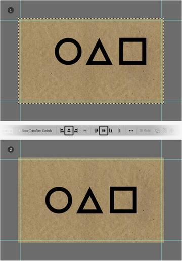 center shapes