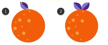 Adding leaves to the Orange