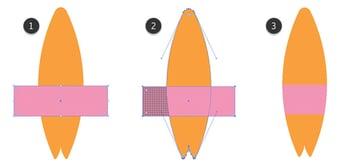 Adding of a pink stripe
