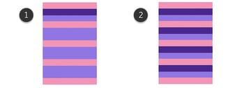 Adding of dark purple stripes